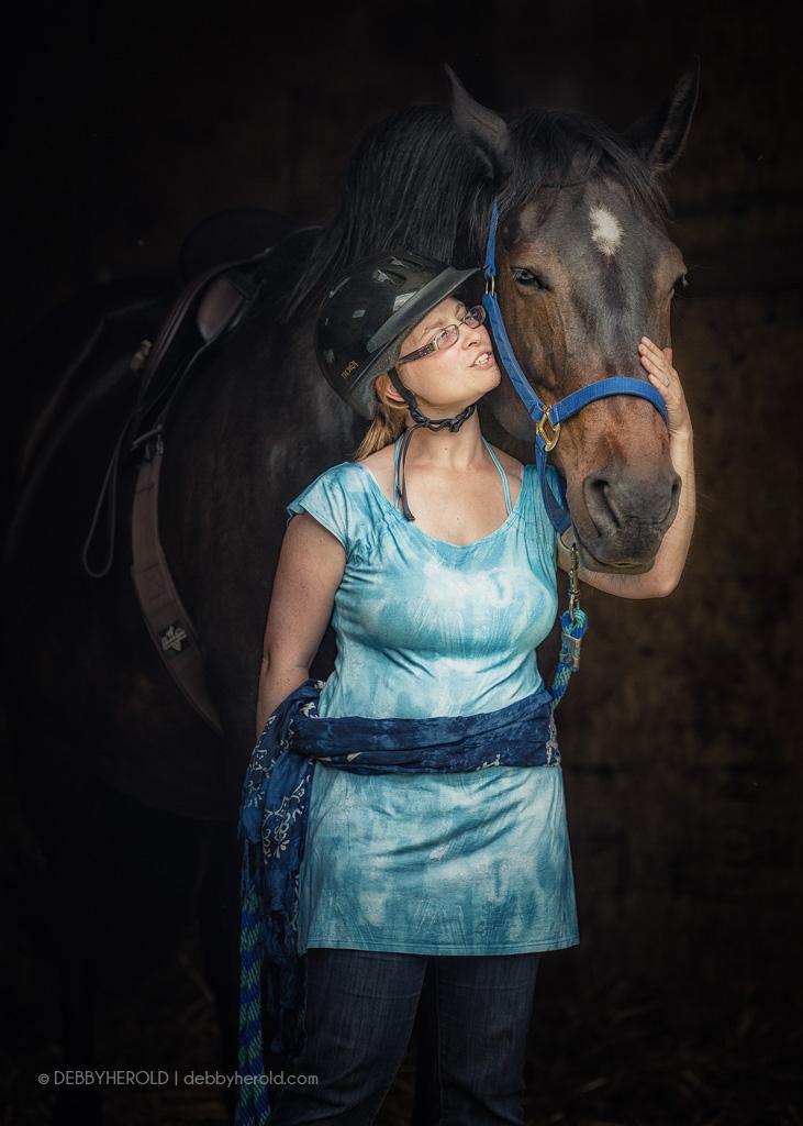 Woman with Percheron cross horse