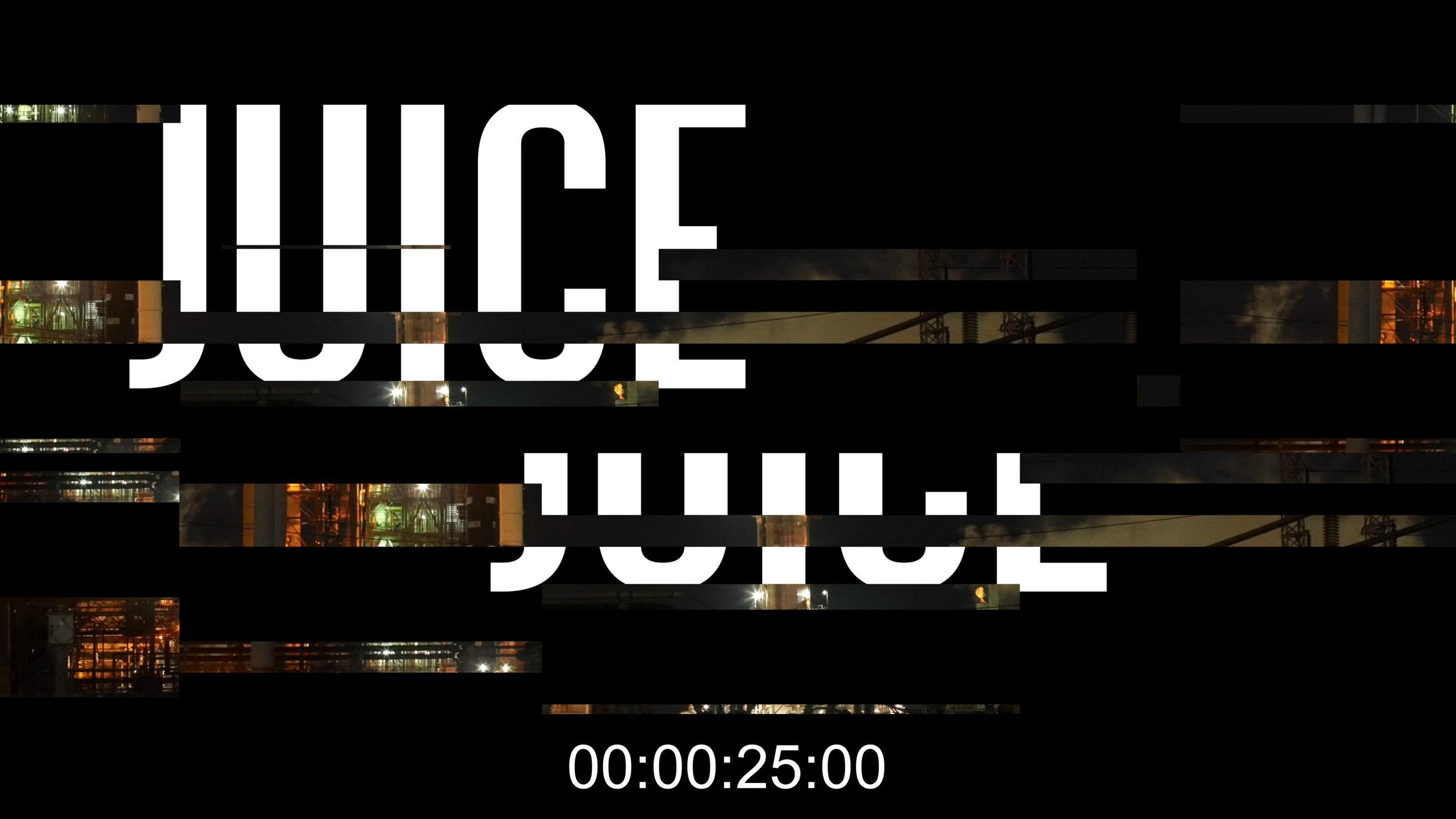 """Juice 's """"glitch in"""" effect."""