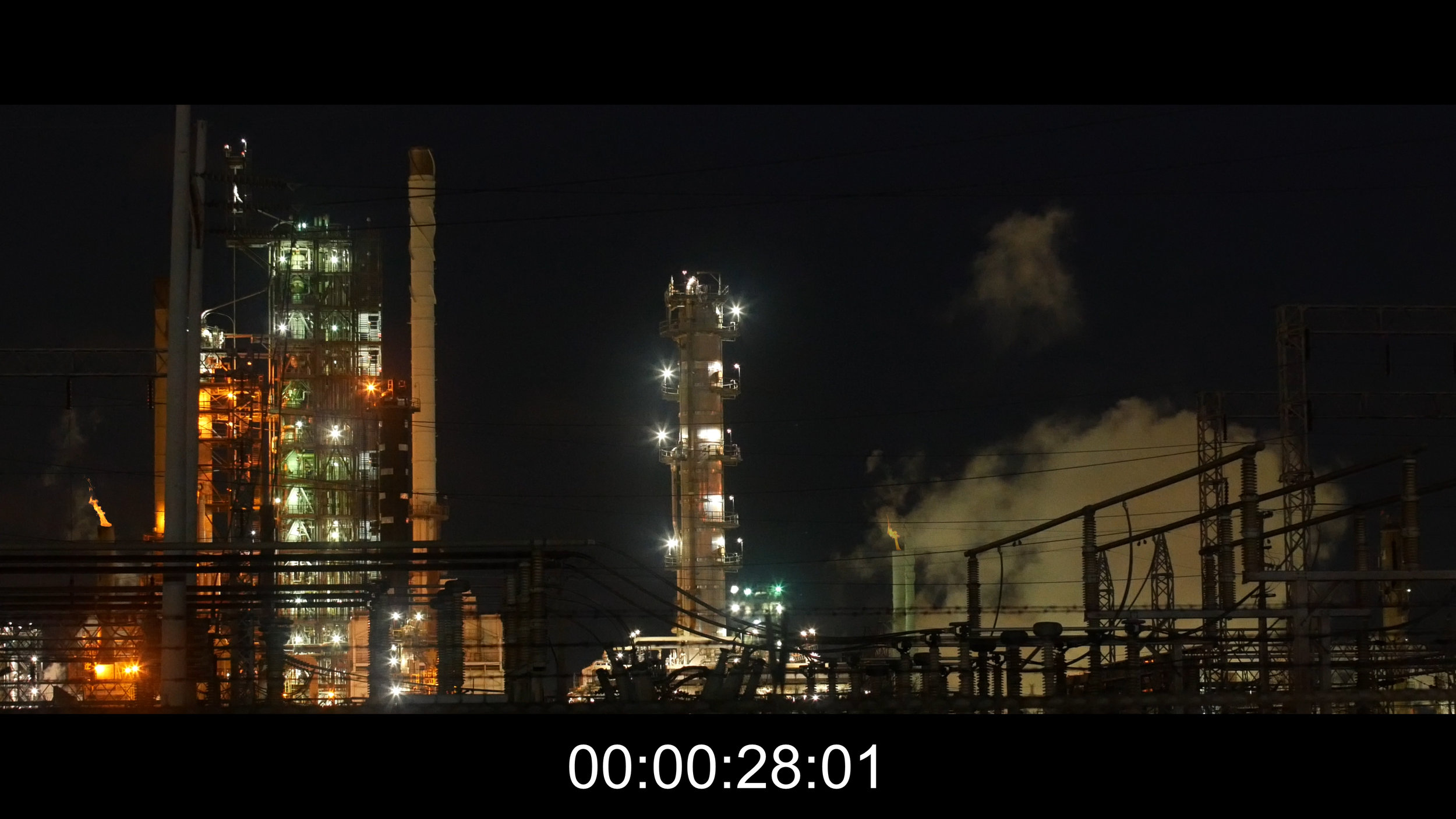Fire plumes in the establishing shot of  Juice .