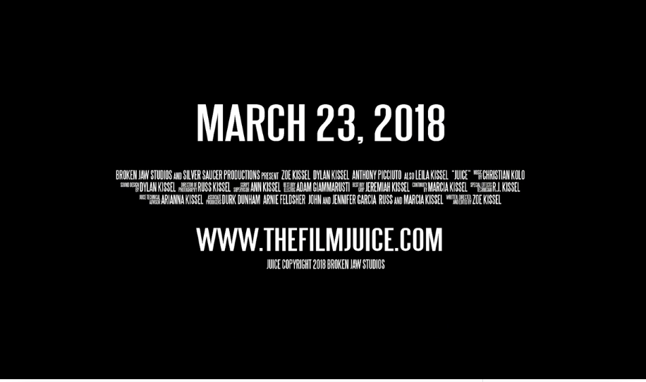 Credits at the end of the  Juice  trailer.