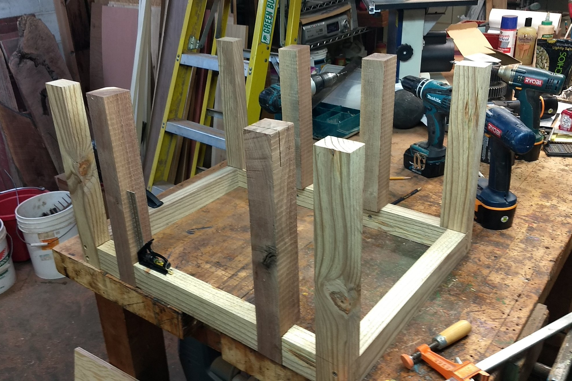 This is the early stage of the internal structure. The boards are to represent scaled-down posts or timbers from a covered bridge. The rough-sawn walnut posts will provide visual and tactile effect for the users. Much of the structure will be visible inside the library.