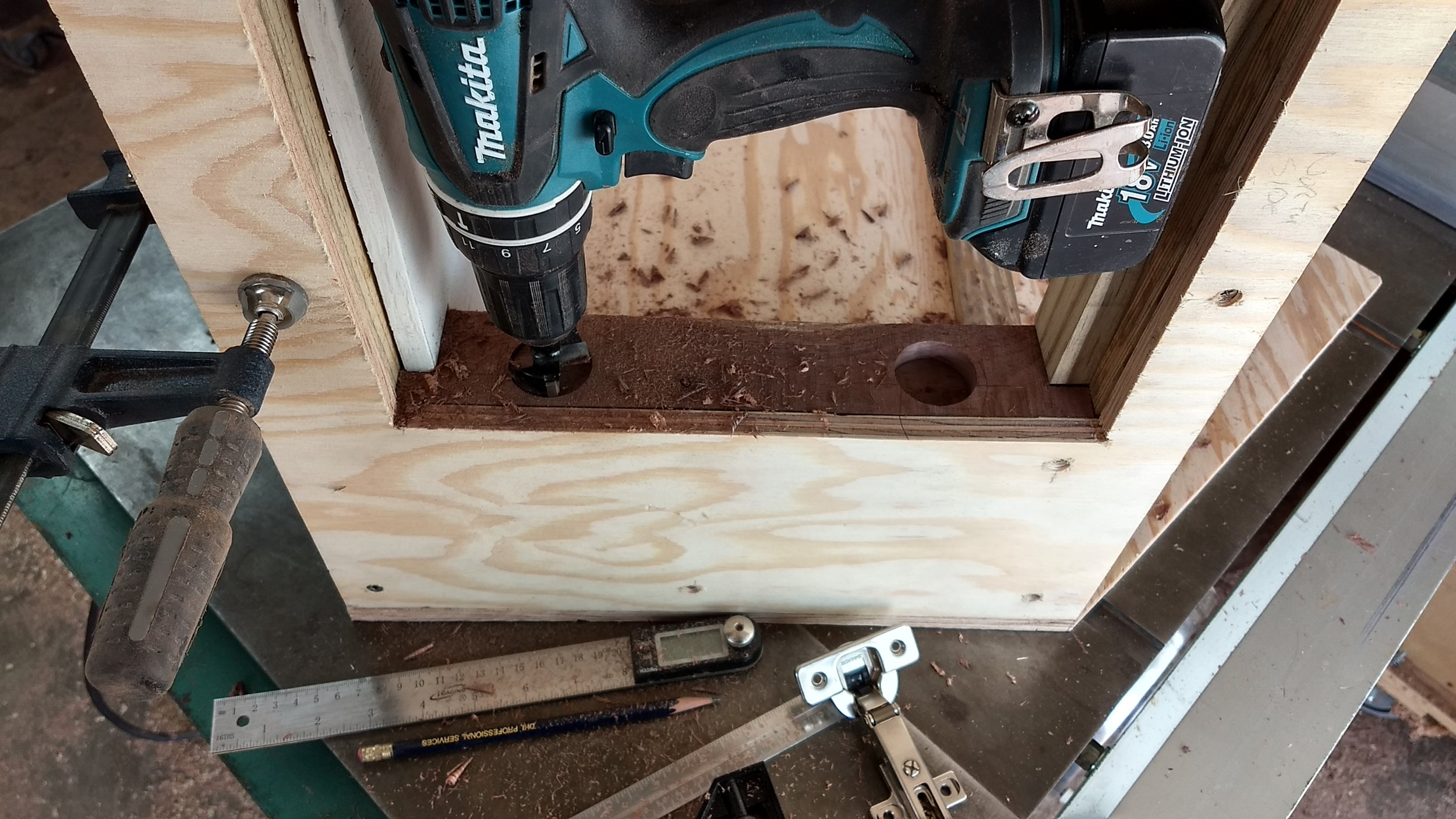 These holes help to give strength where the door's hinges will be attached.