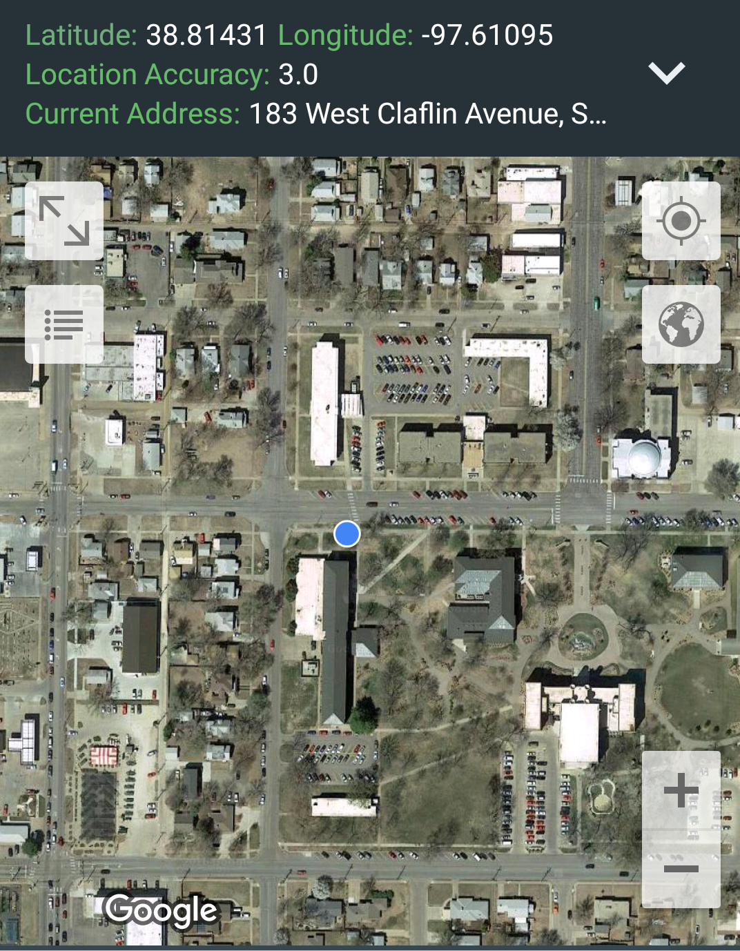 Here's the location on an aerial image.