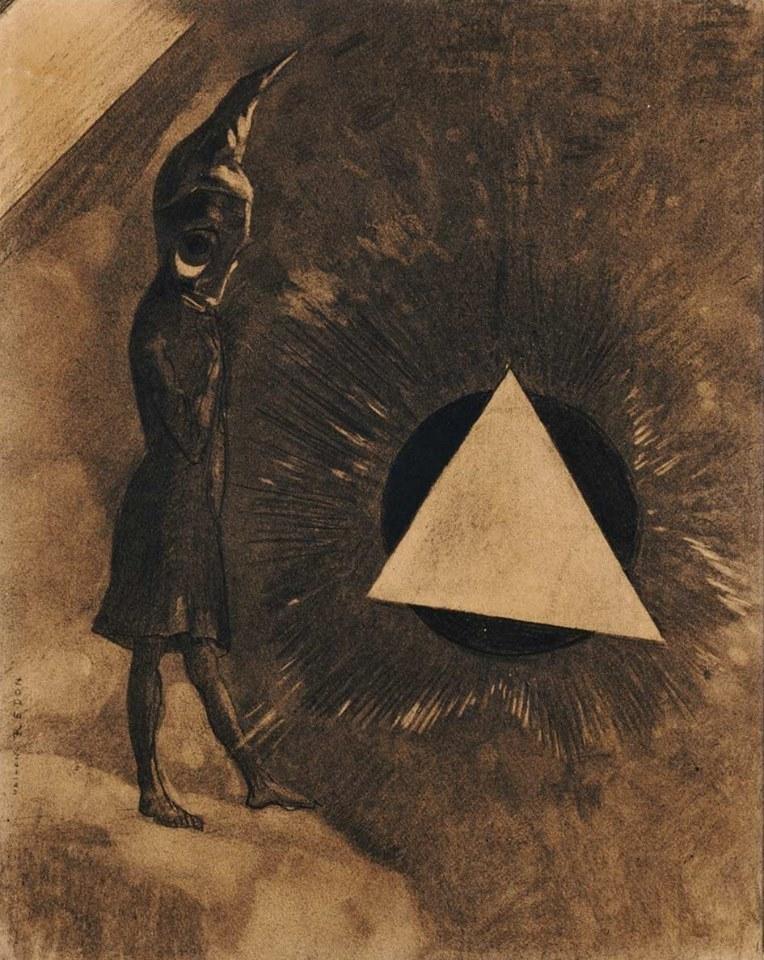"Odilon Redon, ""absolute concern... philosopher"" 1881."