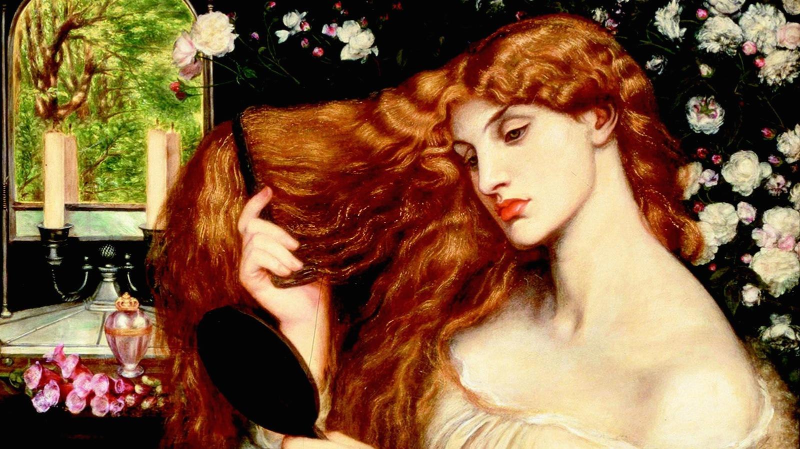"""""""Lady Lilith,"""" by Dante Gabriel Rossetti, Delaware Art Museum."""