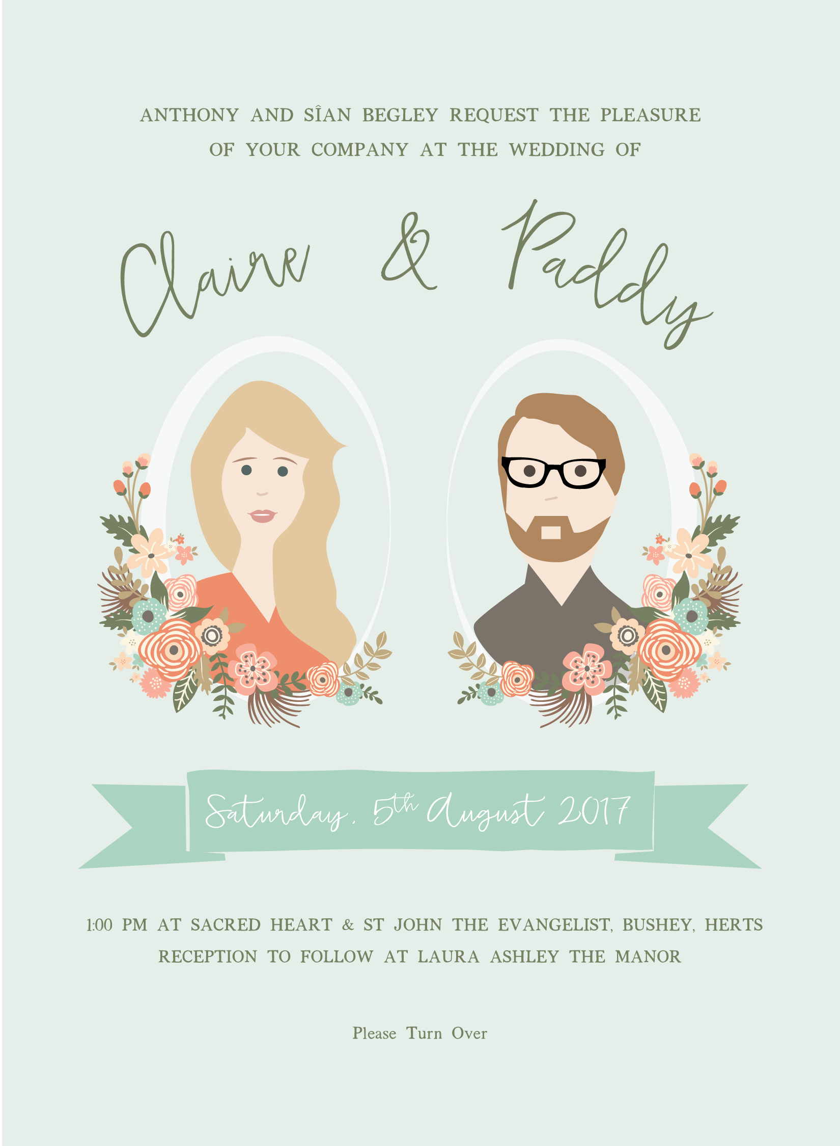Wedding Invitation Design: Claire & Paddy