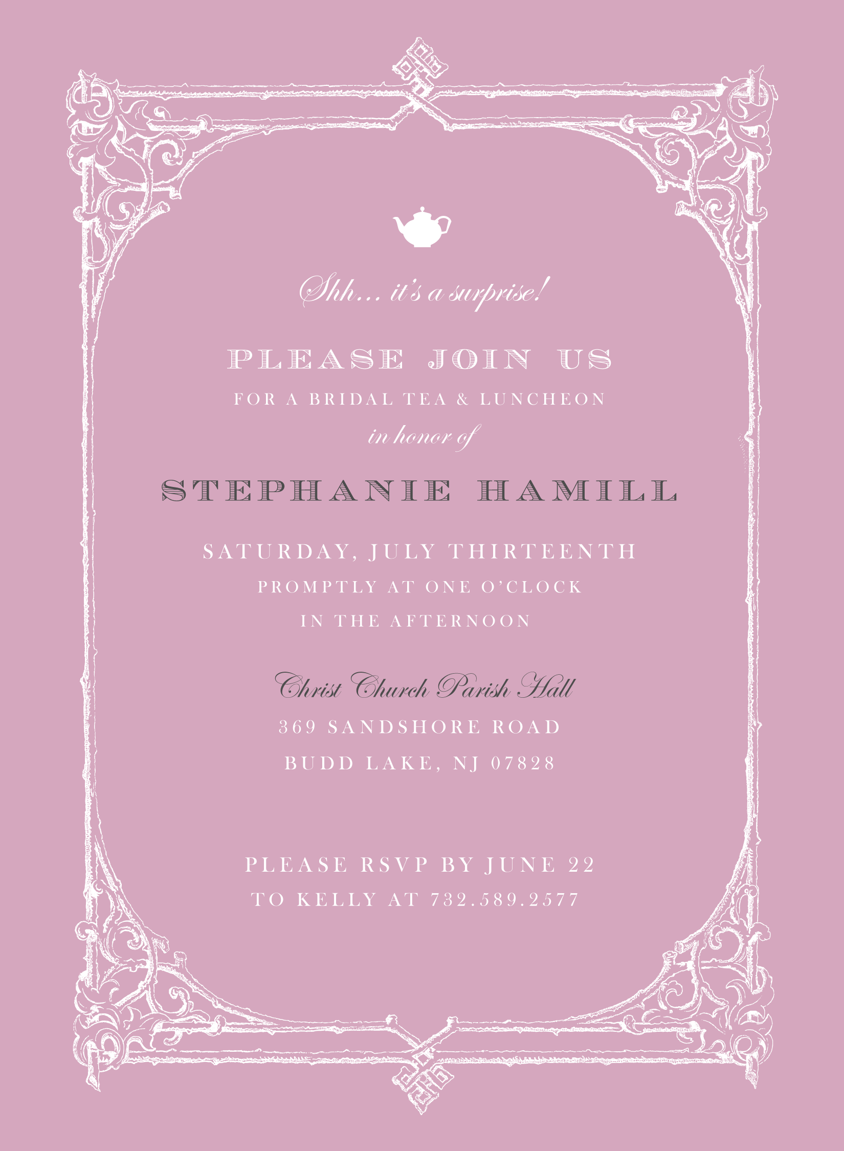 Bridal Shower Invitation Design: Stephanie