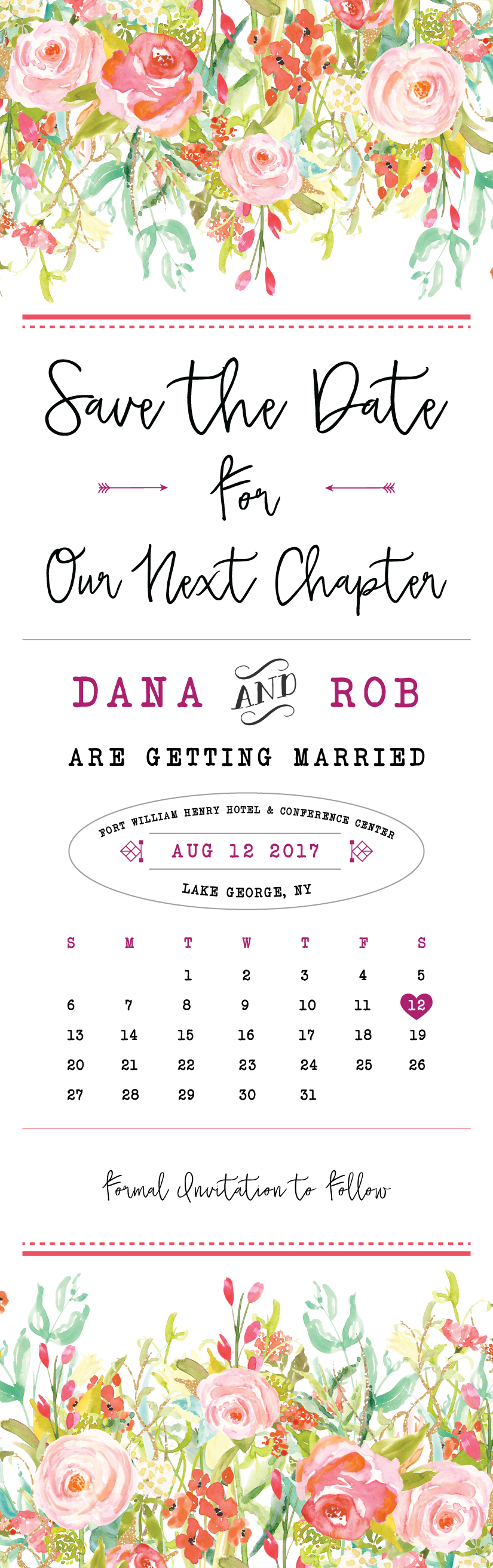 Save the Date Design: Dana & Rob