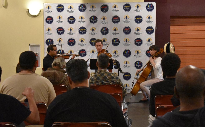 Alumni perform at The Midnight Mission in LA