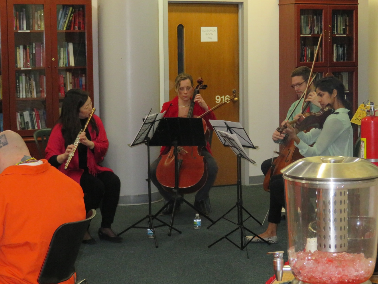 Alumni and faculty perform at a correctional center in Chicago