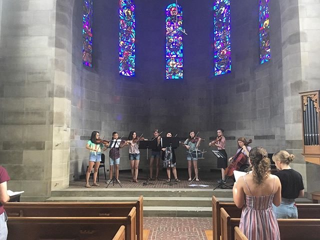 It was wonderful to see so many students step up this morning to serve at student-led Morning Sing. This afternoon and evening, students performed their final chamber concerts here in Oberlin, followed by an ice cream social. Thanks for a great concert day, everyone! #credomusic #credo2019 #developthegift