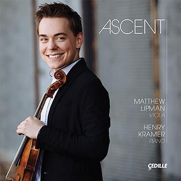 """Grammy Nomination for Credo Alumnus!  Congratulations to violist Matthew Lipman ('06, '07) for receiving a Grammy Nomination for his solo debut album, """"Ascent"""". The album features an array of fantasies for viola, including the world-premiere recording of Dmitri Shostakovich's long-lost Impromptu for Viola and Piano, Op. 33."""
