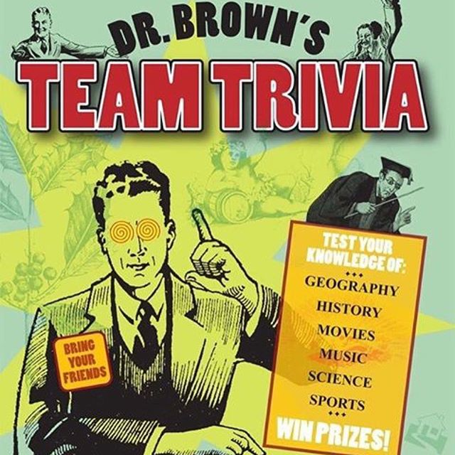 TONIGHT: Get your fill of pizza, brew, and trivia with Dr. Brown's Team Trivia (8:30pm) at Barley's Taproom in Asheville, NC.