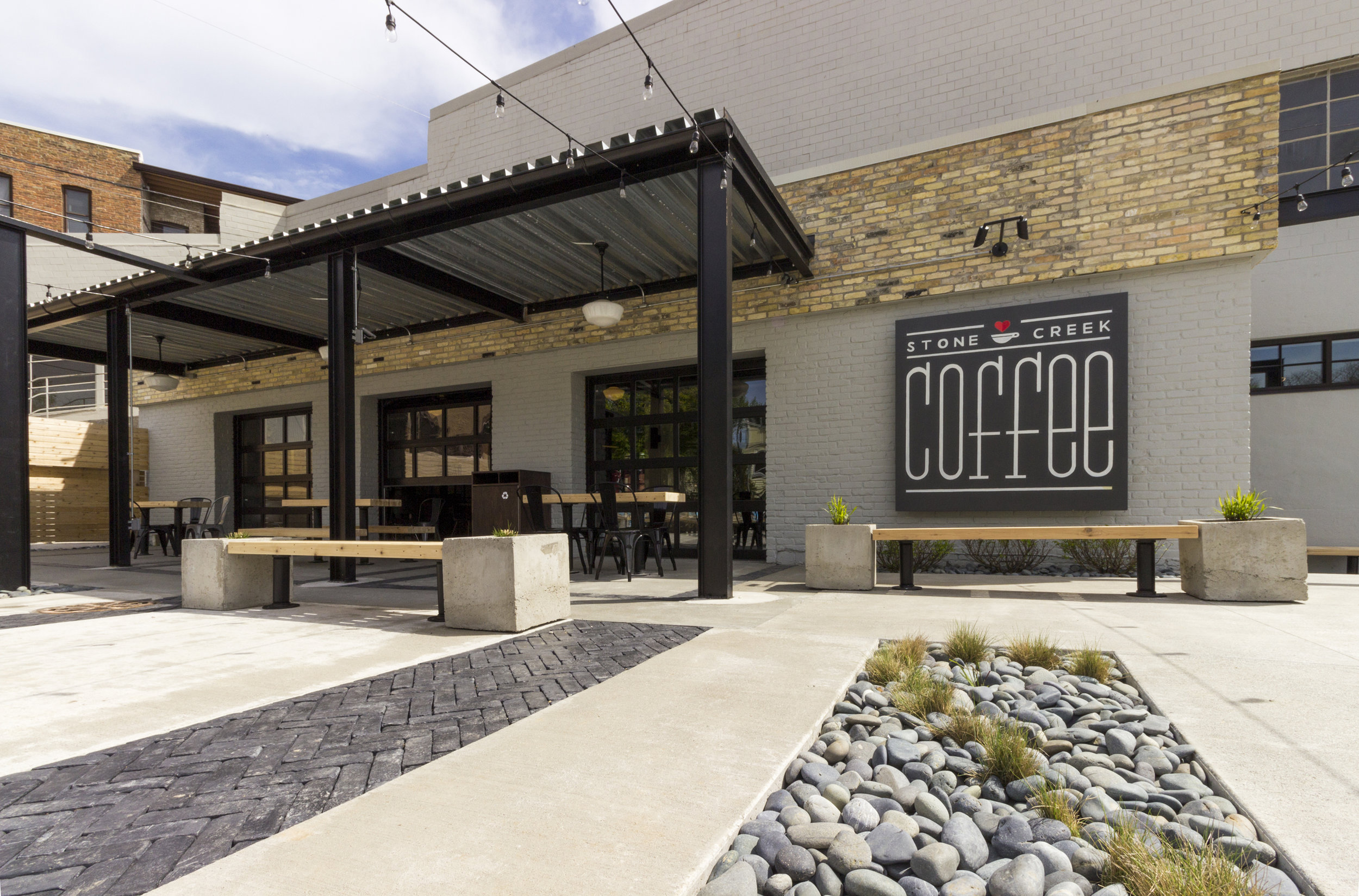 Stone Creek Coffee - Downer Cafe & Kitchen.   Winner of a 2019 Milwaukee Business Journal Real Estate Project Award.