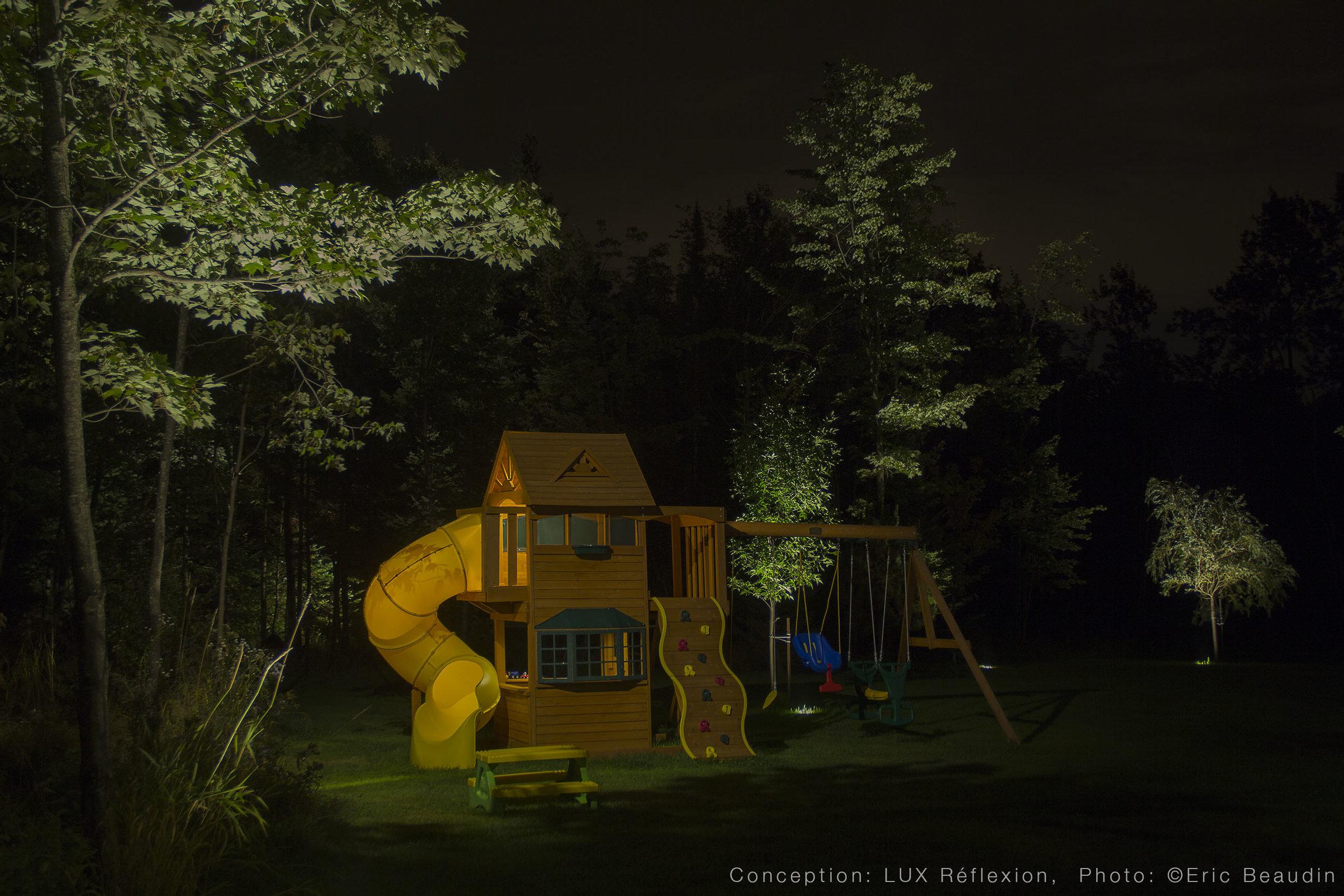 Éclairage architectural, jeu d'enfants