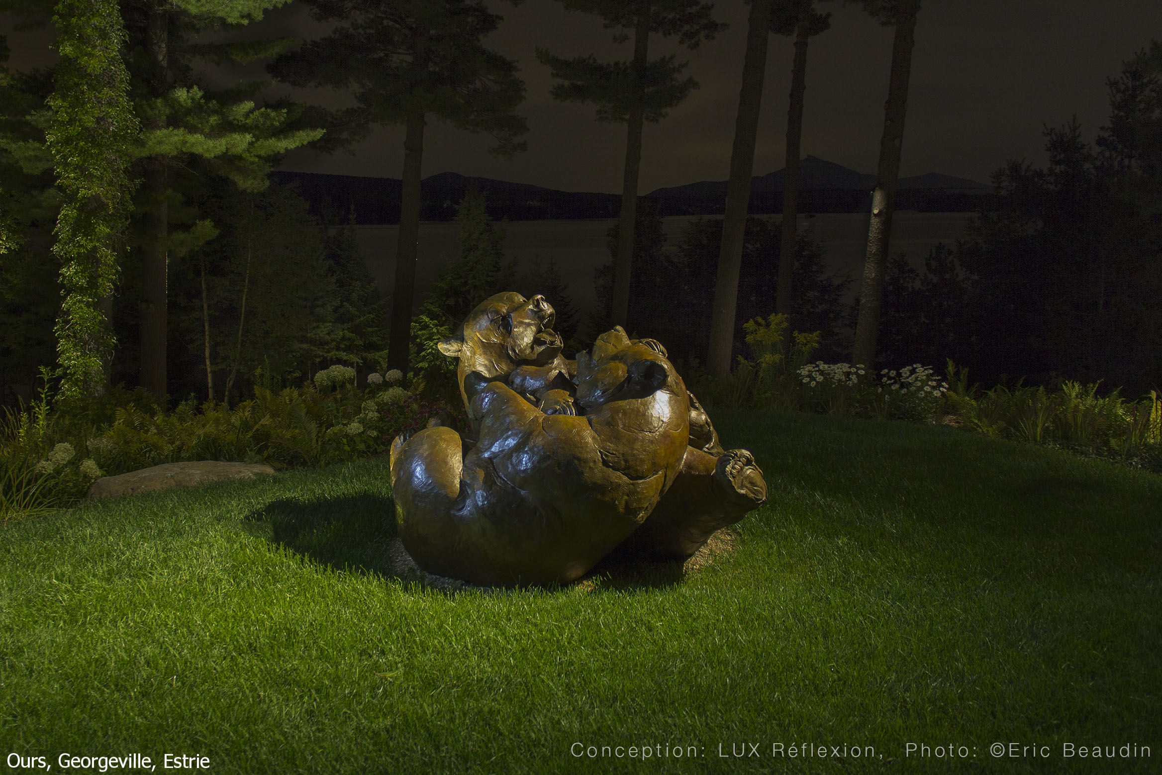 Éclairage d'oeuvres d'art, bronze