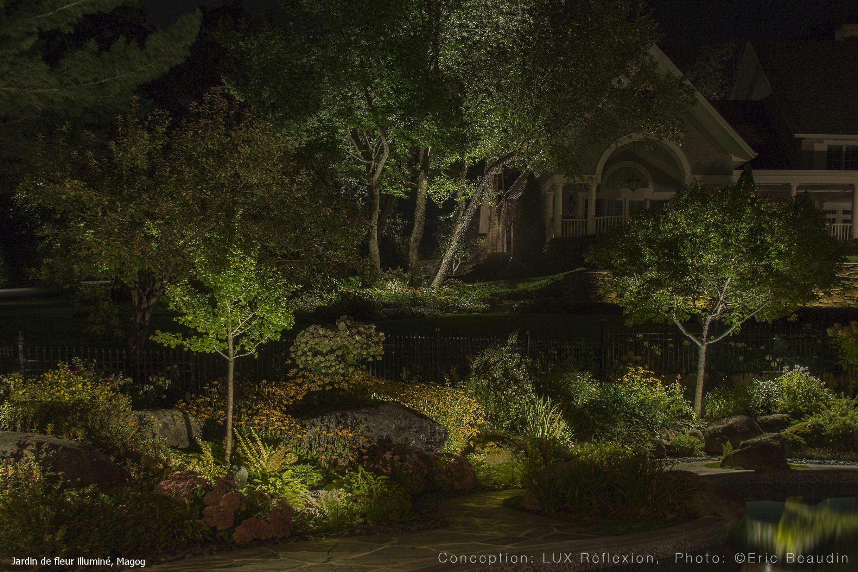 Éclairage paysager, jardin