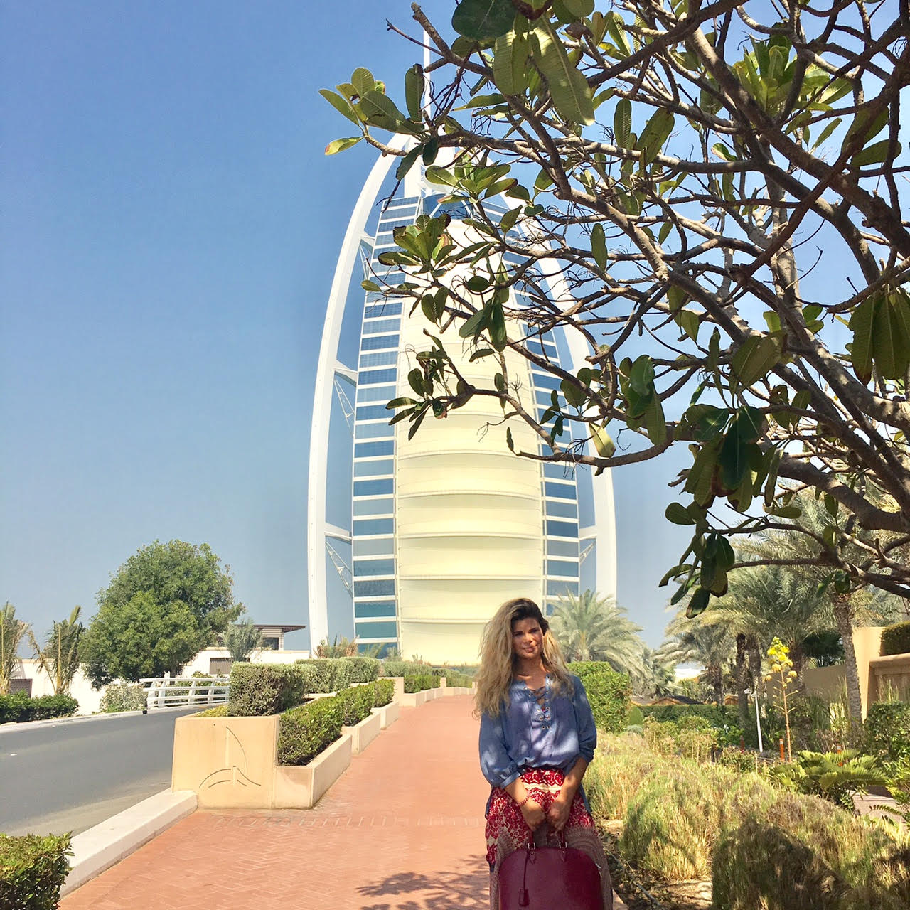 Here I am outside of the Burj!! Since it was built in 1998 I have wanted to stay here.