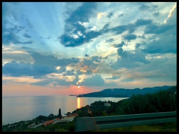 The sunset over Dubrovnik