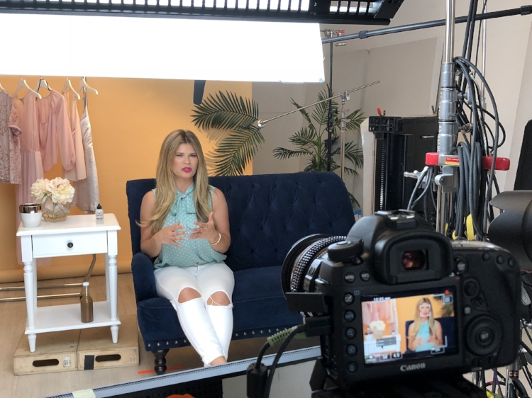 """On set with Ipsy, filming my """"Debunking Nail Myths"""" video! Link above :)"""