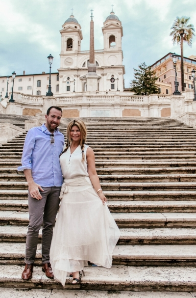 Jeff and I this year on the Spanish Steps in Rome