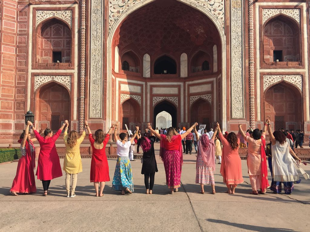 Can you spot which one is me? Outside the Taj Mahal