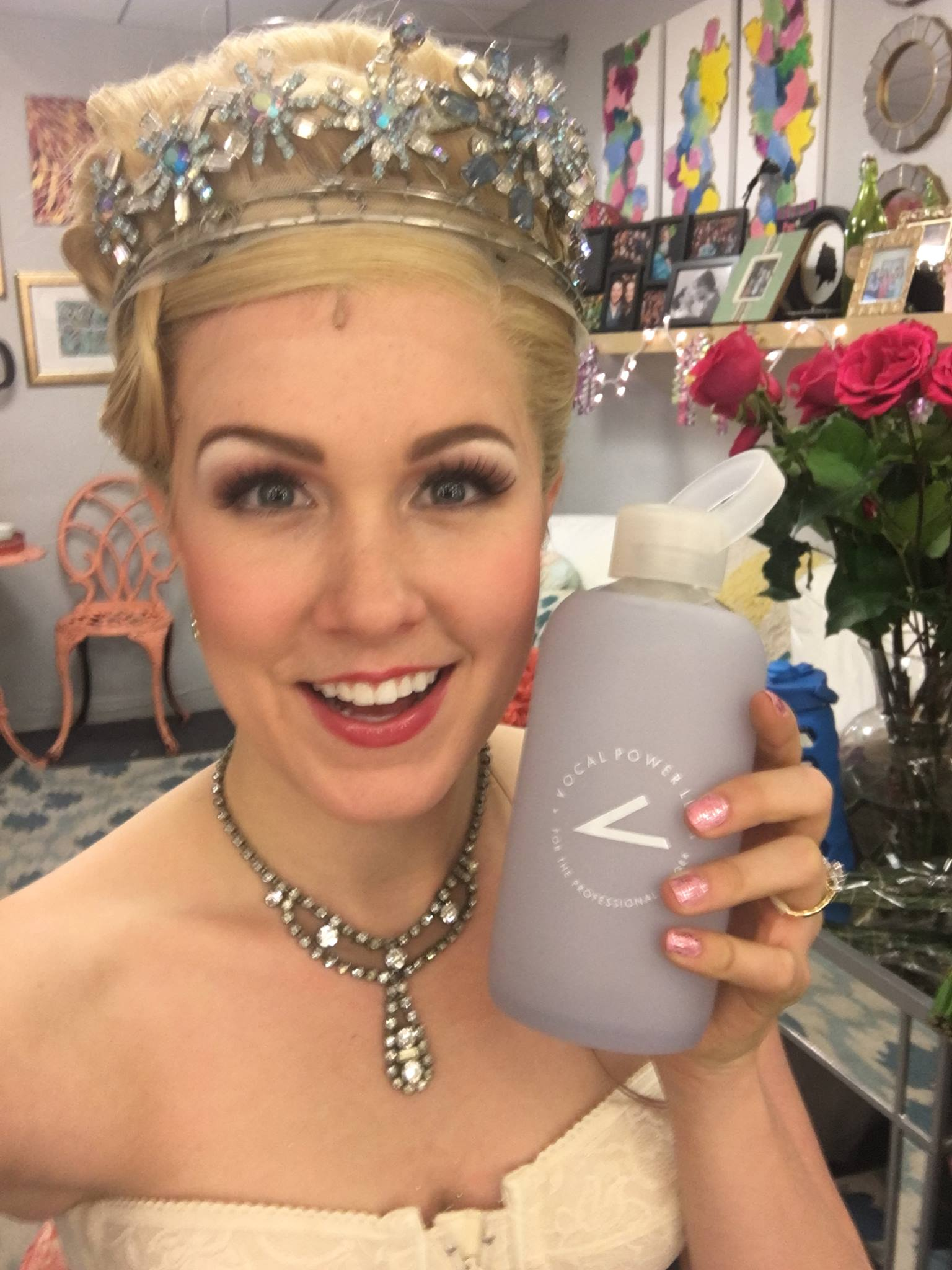 Ginna Claire Mason, the day of her Broadway debut in her dream role as Glinda in WICKED!