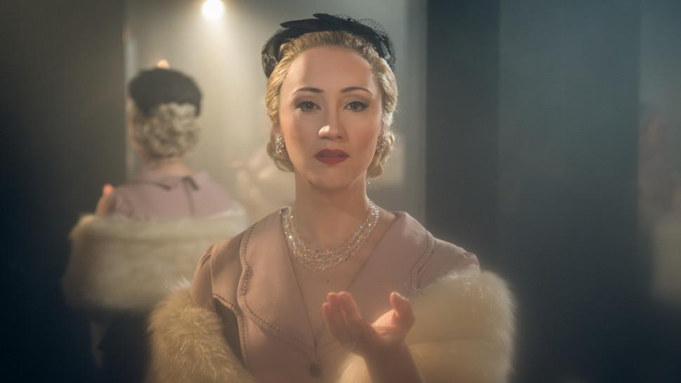 Eden Espinosa as Eva Perron in Broadway's Evita.