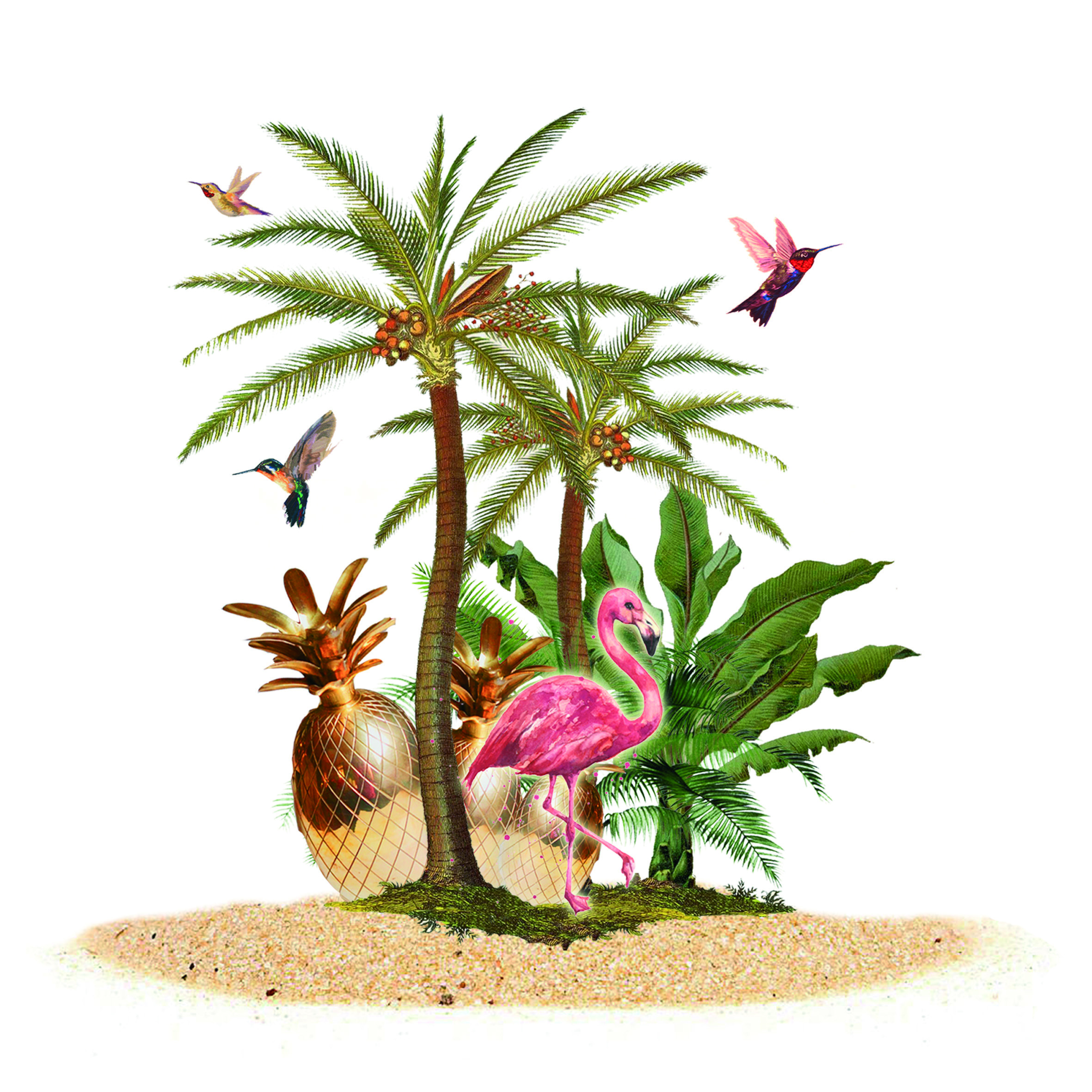 - Pop-Up ShopflyerFor the summer pop-up shop for BDB we created a tropical phantasy island.