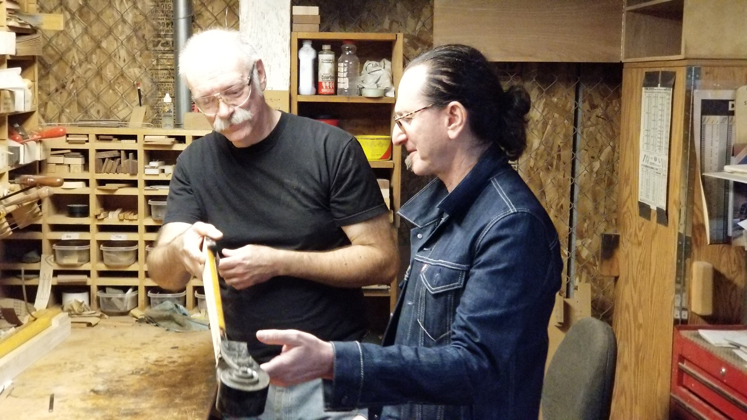 Geddy Lee of Rush with Packinghouse Creative's Bruce Johnson.
