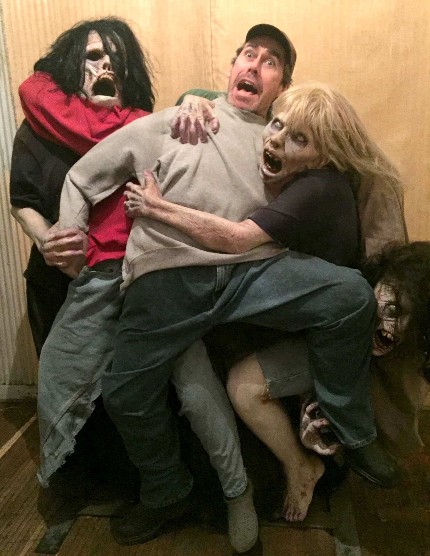 Packinghouse Creative's Chris Bell eaten by Zombies!    It was nice knowing you Chris.    R.I.P.