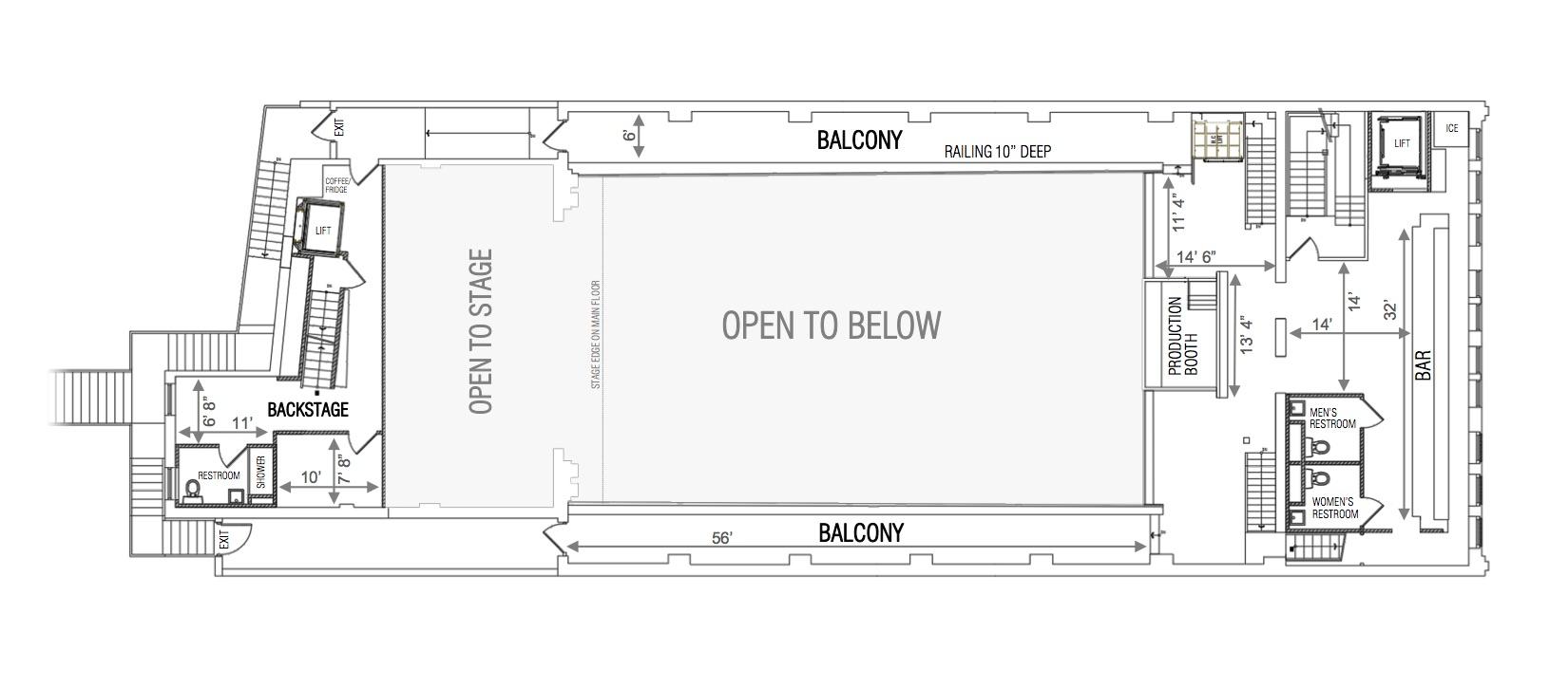 White Eagle Hall Balcony Floor Plan - source:http://www.whiteeaglehalljc.com/about/