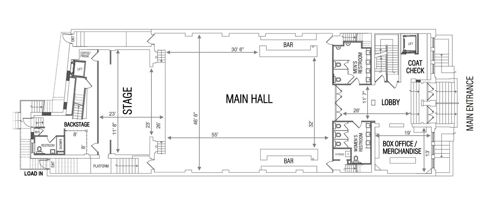 White Eagle Hall Floor Plan - source:http://www.whiteeaglehalljc.com/about/