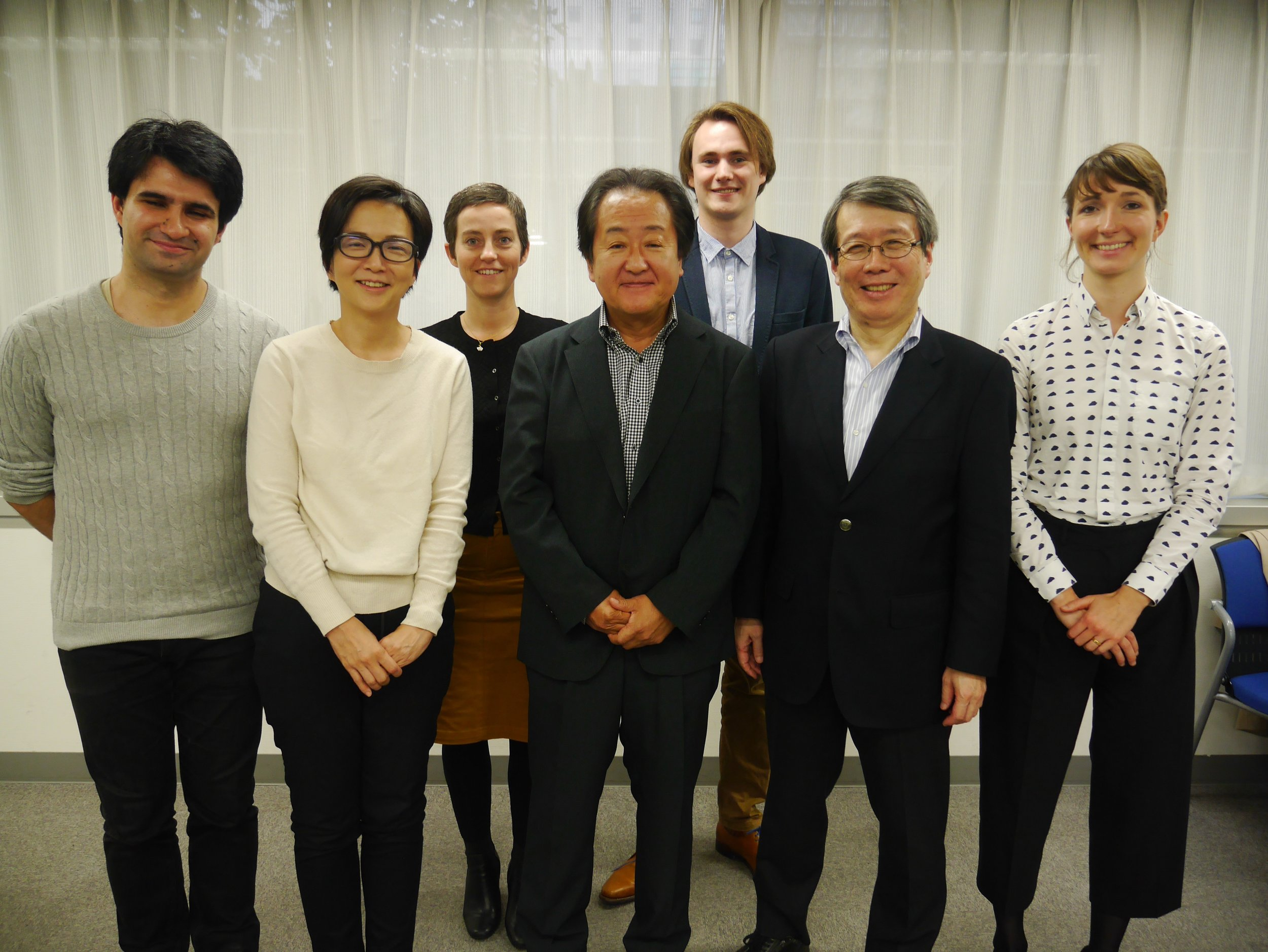 The project team with advisory board members Miki sugiura, takeshi ito and masashi haneda