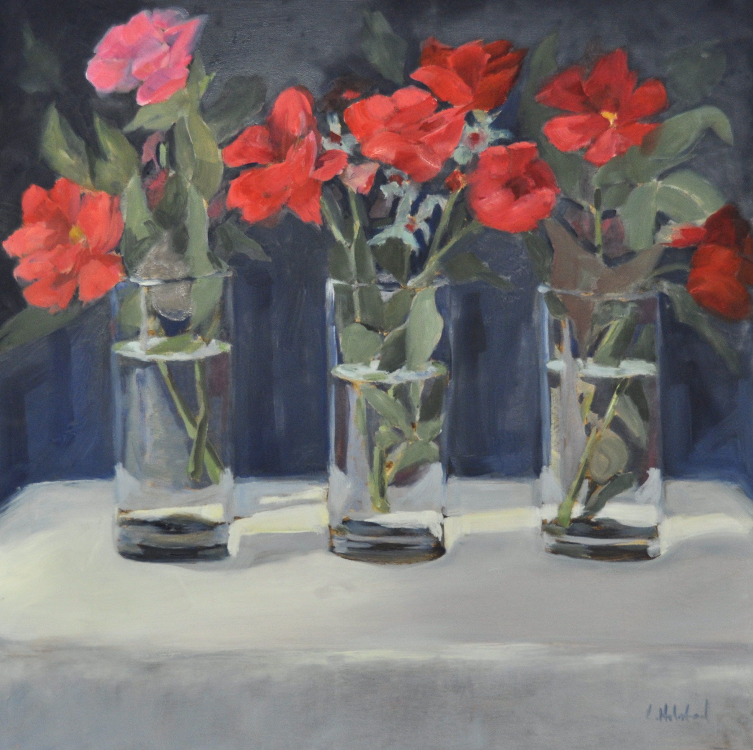 Red, White and Blue, Oil on Linen, 20 x 20, sold