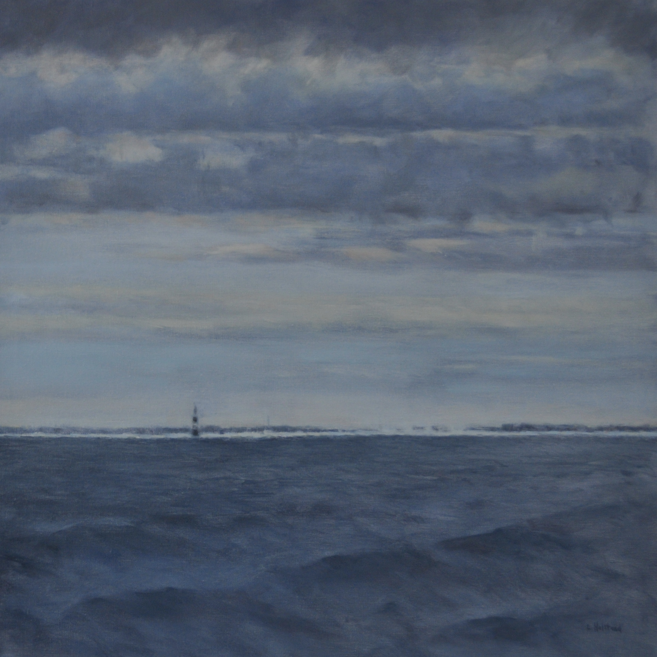 Mouth of the River Ahead, Oil on Linen, 30 x 30, sold