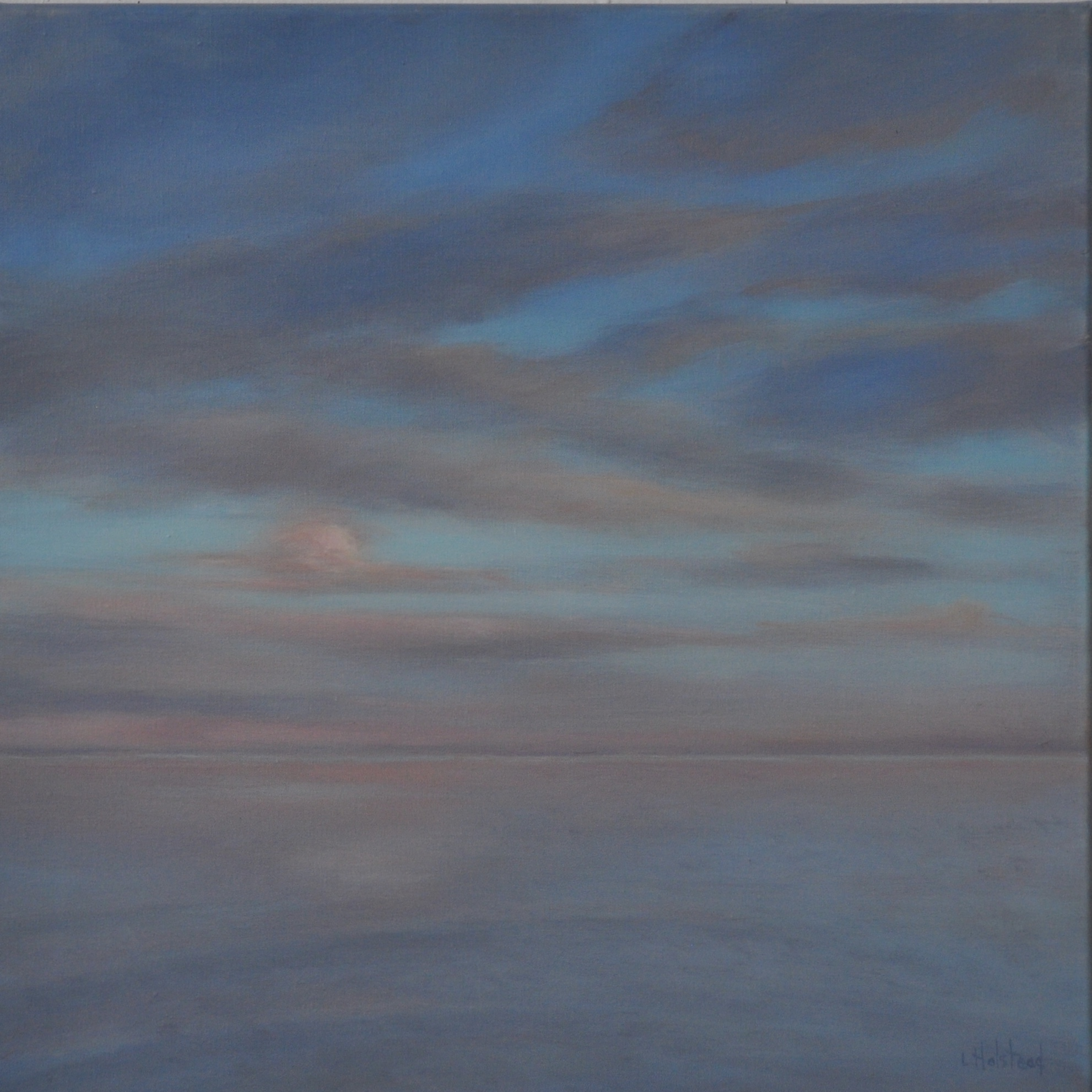 Becalmed, Oil on Linen, 14 x 14, sold