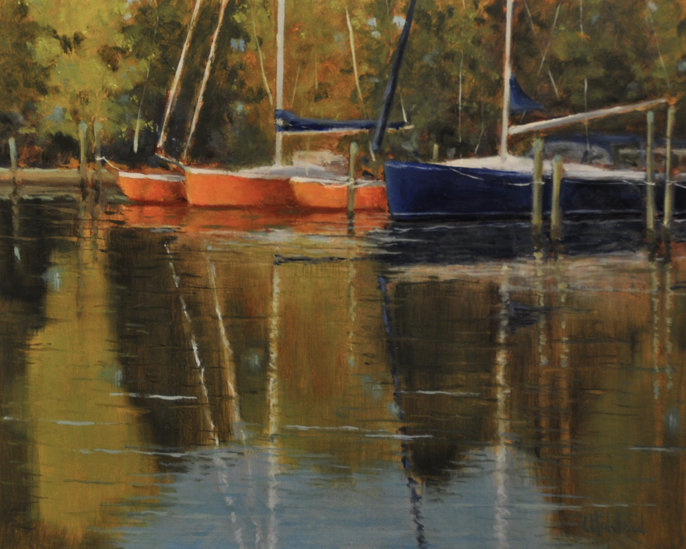 Still Reflecting, Oil on Linen, 8 x 10, sold