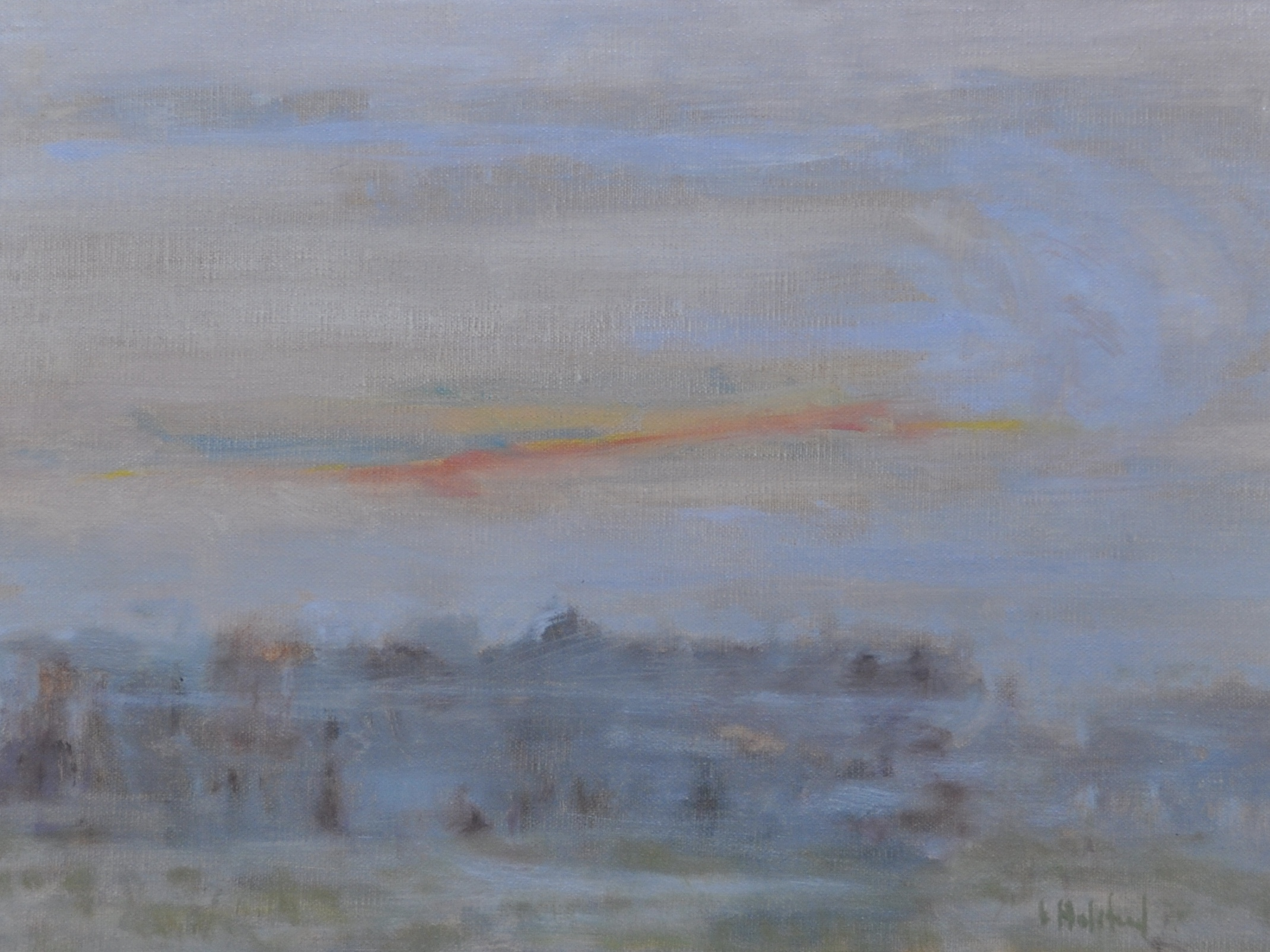 Early Morning Mist, Oil on linen, 9 x 12, available