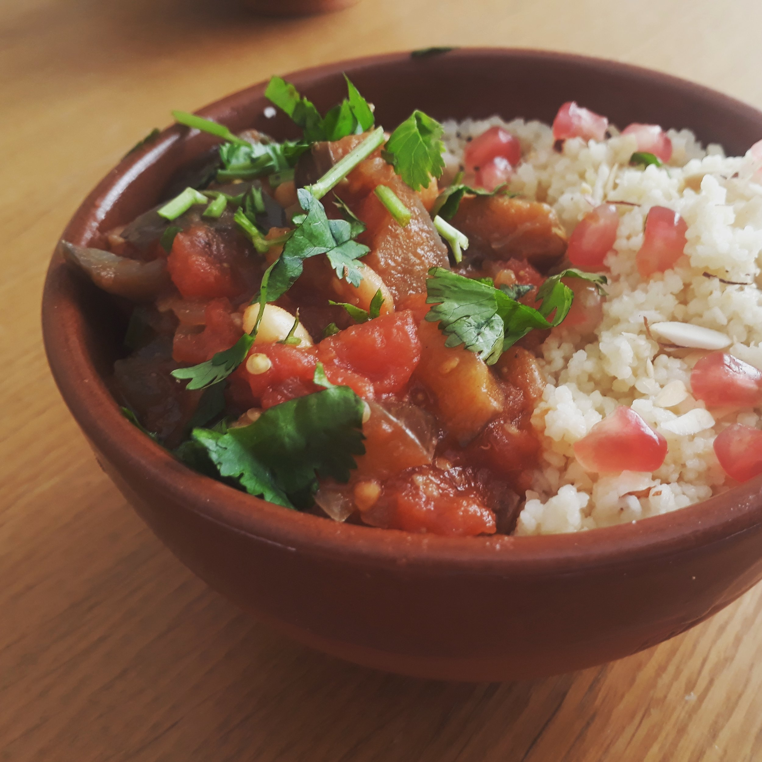 Tagine and Cous Cous Yoga Teacher Training menu