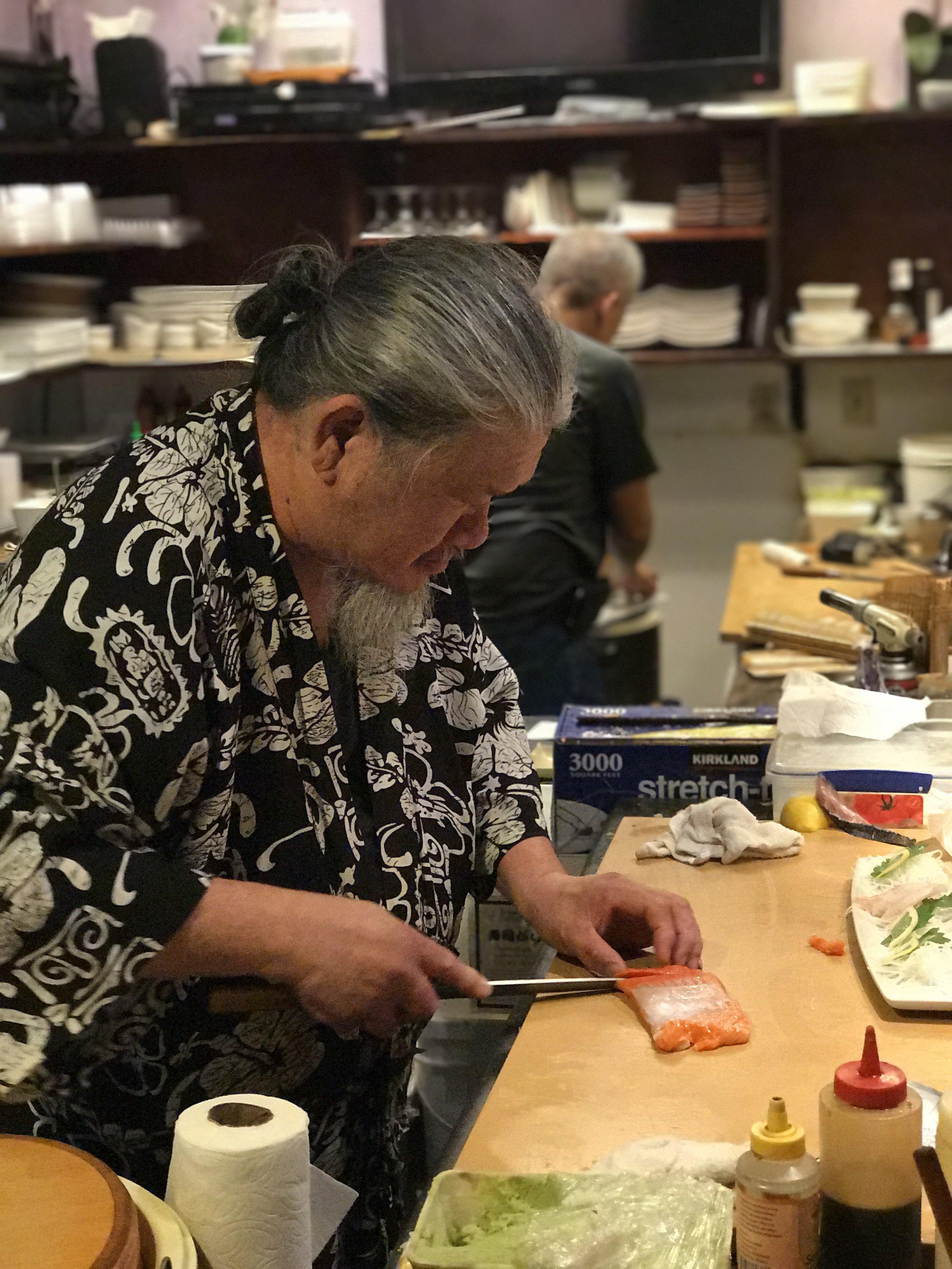 Chef Roger Chong of Zushi Puzzle. Photo by  @girlandthebay .