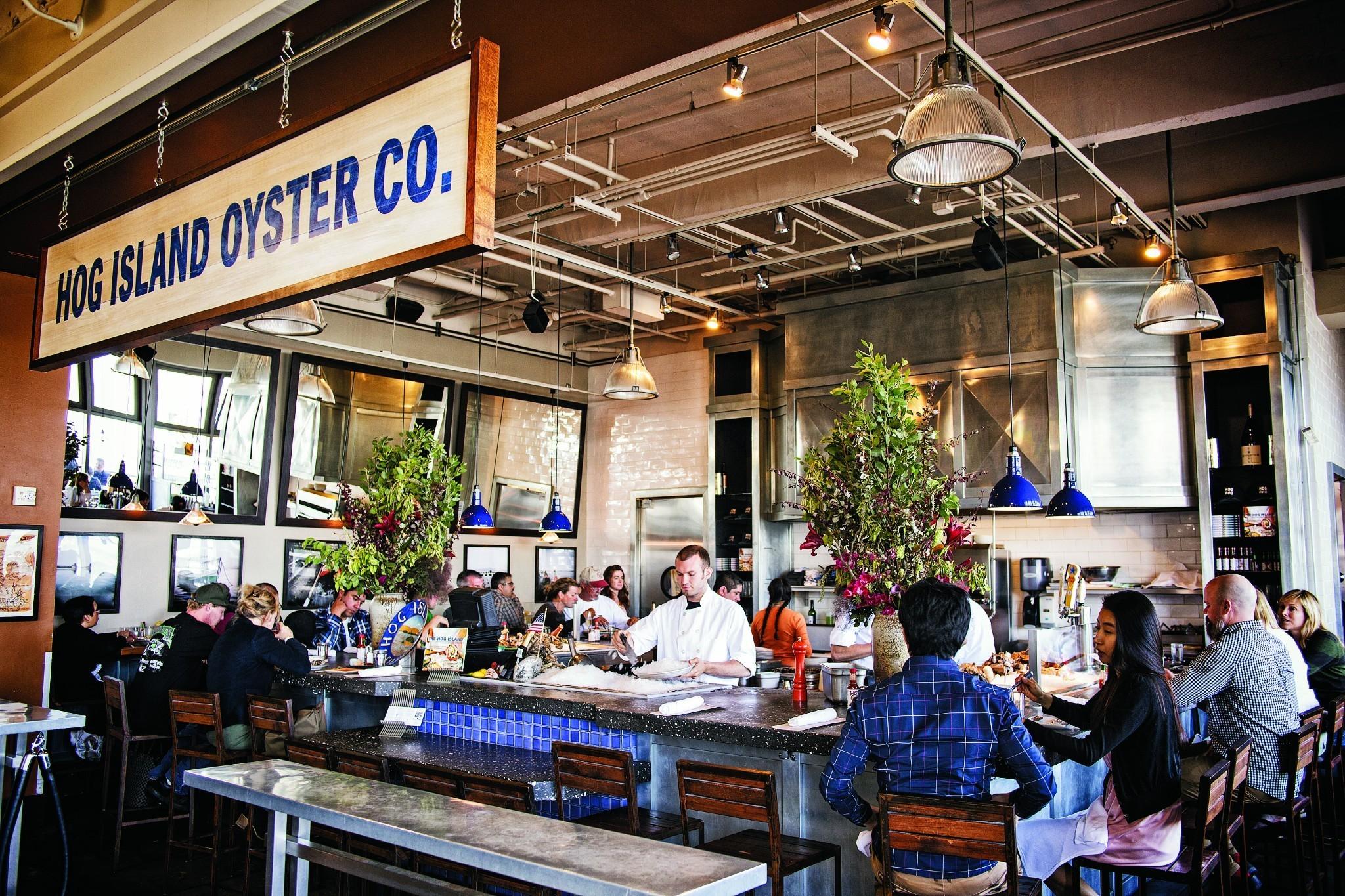 Hog Island Oyster Bar. Photo by  Voyger .