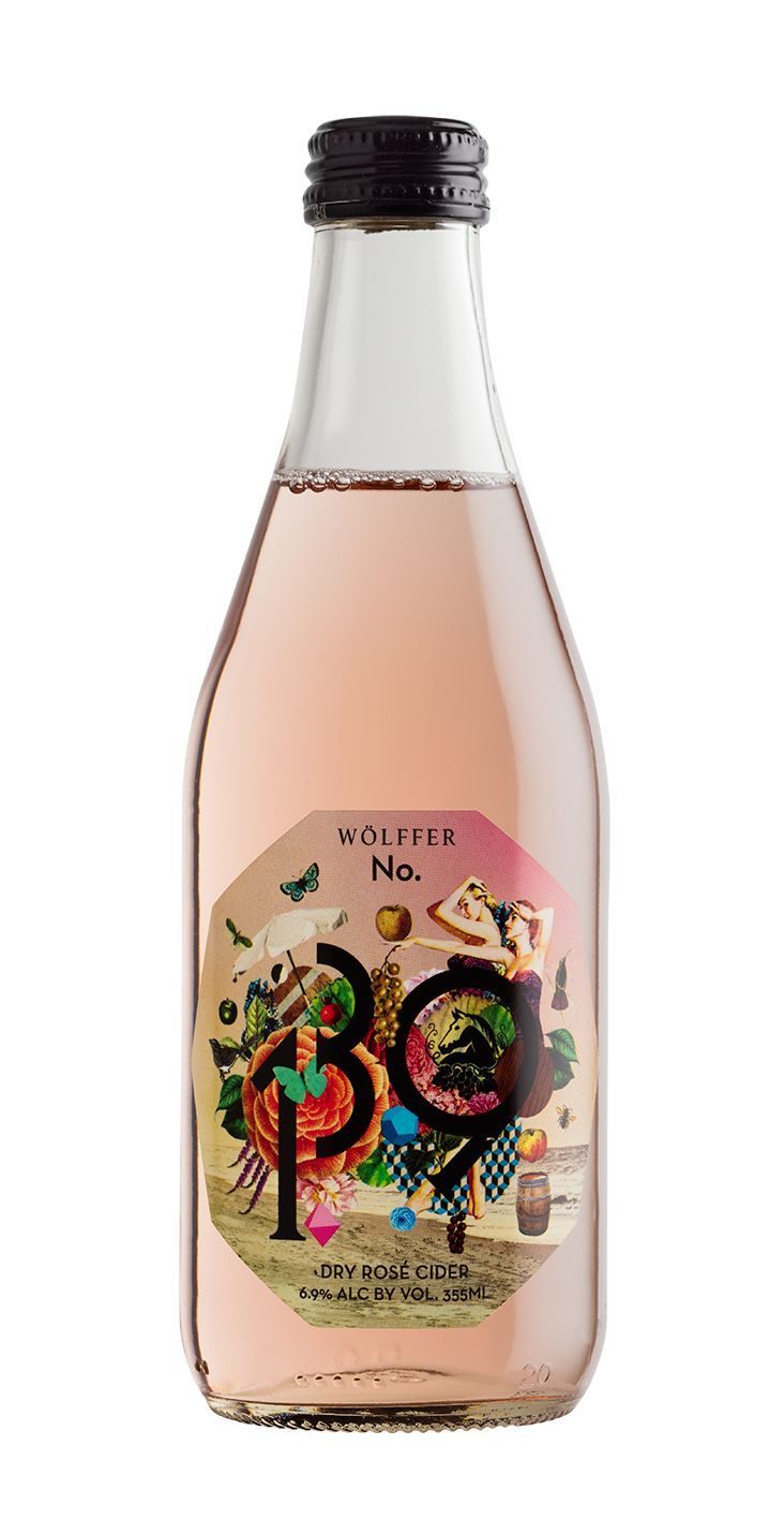 Wölffer Dry Rosé Cider     What it's made with: A blend of New York State apples and grapes.   What it tastes like: Fruit forward with a crisp, dry, and slightly sparkling finish.   What to sip it with: Fresh seafood and charcuterie spreads.
