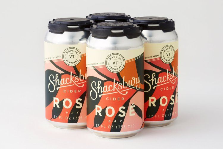 Shacksbury Rosé Cider     What it's made with: A blend of fresh-pressed Vermont apples that's aged with grape skins for flavor, coloring, and tannins.   What it tastes like: Fruit forward with tannins for a complex wine-like finish.   What to sip it with: Charcuterie spreads and shellfish.