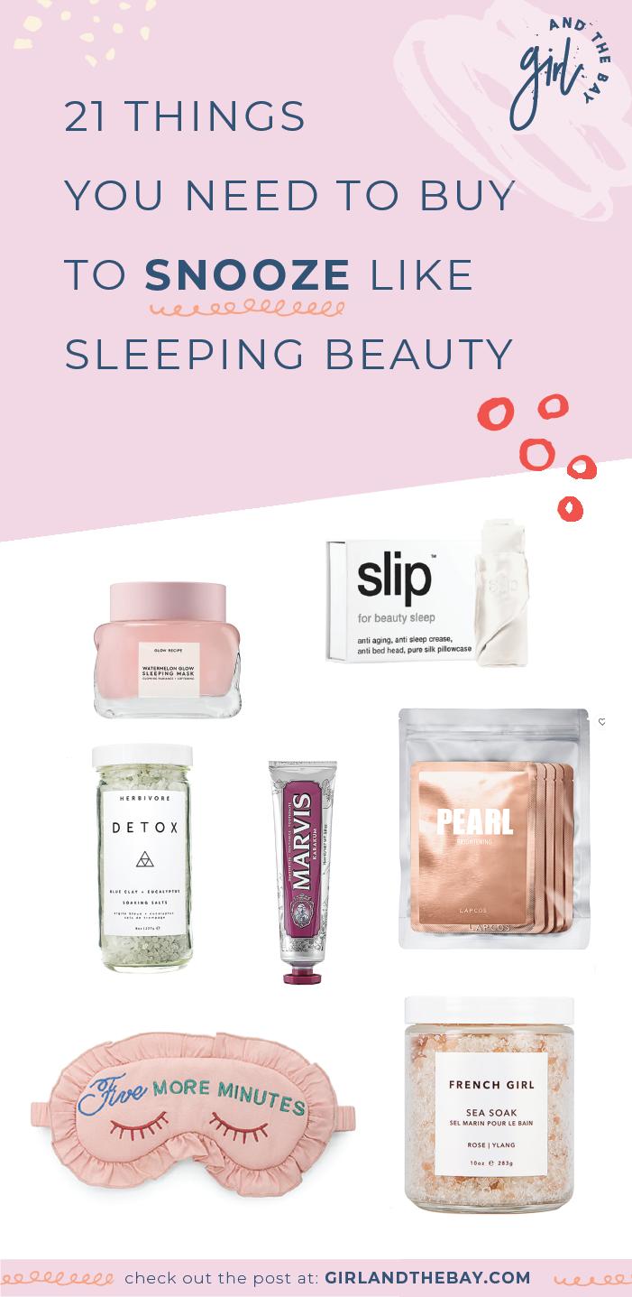 21 things you need to buy to snooze like sleeping beauty