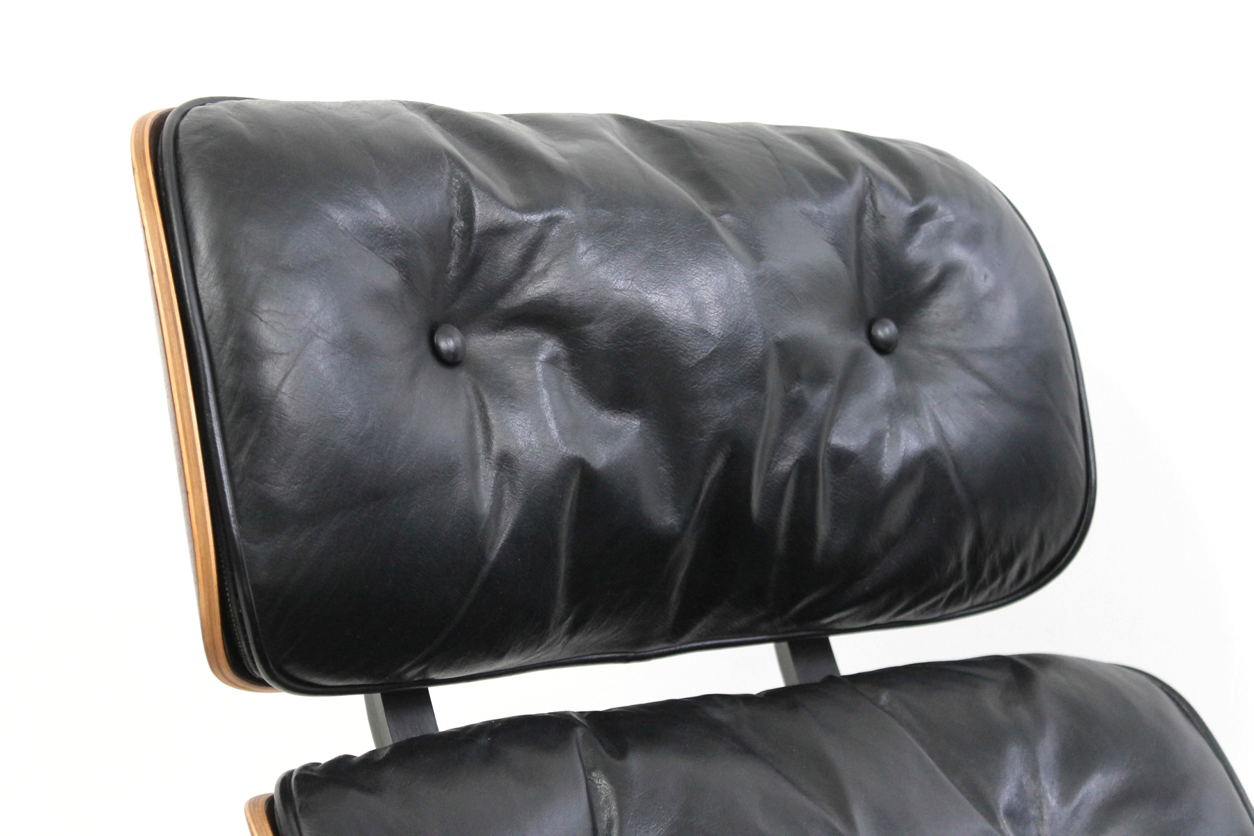 Restored Eames Lounge Leather