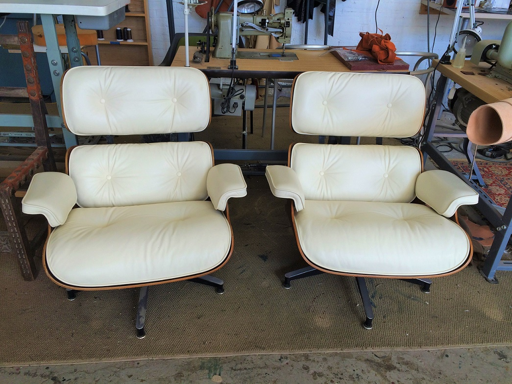 Custom leather Eames Lounge