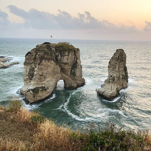 """Love one another but make not a bond of love: Let it rather be a moving sea between the shores of your soul."" #khalilgibran . . #lebanese #poetry #poet #love #mediterraneansea #sea #lebanon #livelovelebanon #pigeonrocks #beirut #sunset #weekendvibes #lebanoninstagram"