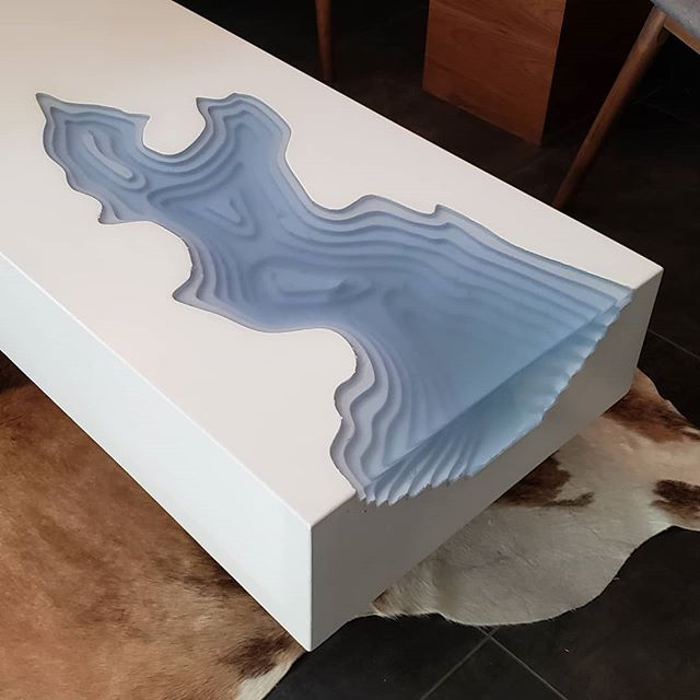 A couple preview images of the Arctic Erosion table.... Much more on this one coming soon... #whiteconcrete #epoxy #digitalfabrication  #xcarveproject #xcarve #cnc #cncproject #concrete #gfrc #amazing #wow #concreteart #concretetable #epoxyresin #epoxyart #interiordesign #table #coffeetable #moderndesign #modernfurniture