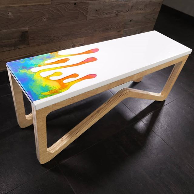 Full build video for the Epoxy Crayon 🖍️🖍️ and White Concrete bench is live on YouTube now! This was a collaboration with @shaunboydmadethis who designed this sexy legs 🦵🦵 the design is a bit whimsical but was a ton of fun...Shaun and I had a blast and I think the video shows that, so what are you waiting for? 😜 LINK IN MY BIO  Big thanks to @kregjig for sending their new adaptive cutting system out.... It served as a compact portable shop-in-a-box we used to keep this project moving while the rest of my shop was dexter-fied for the Arctic erosion build.  This project had a ton of different techniques that went into it.  We started by using the @inventables X-carve to make drip-shaped foam knockout for the concrete form.  For the concrete mix, I used @fishstoneinc glass-fiber reinforced concrete (GFRC) mix so the bench could be poured thin.  We could then pour a @totalboat 2:1 epoxy resin layer in the drip inlay, before melting @crayola crayons on top of the epoxy.  For the last step, we poured another layer of Total Boat thick set epoxy resin (a deep pour epoxy) on top of the melted crayons.  Lastly, we used the @shapertools Origin handheld CNC to cut the legs out of plywood.  #concrete #crayons #crayonart #crayonart #wow #amazing #epoxyrivertable #epoxy #epoxyresin #epoxyresinart #epoxyart #gfrc #concretefurniture #concretebench #concretetable #concretedesign #woodworkingporn #woodworking #diydesign #diy #xcarveproject #cnc #shapermade